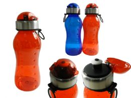 48 Wholesale Sport Water Bottle With Flip Top Lid