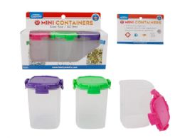 48 Units of 3pc Tall 5oz Containers With Locks - Drinking Water Bottle