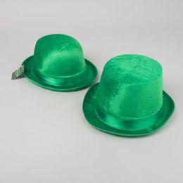 18 Units of St Patricks Velvet Derby Or Top Hat W/satin Trim St Pat Hangtag - St. Patricks