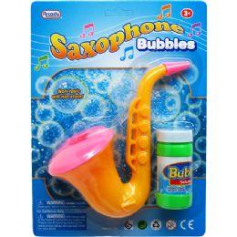48 Units of Seven Inch Saxophone Bubbles - Bubbles