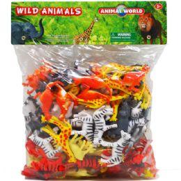 8 Units of One Hundred Piece Plastic Wild Animals - Animals & Reptiles