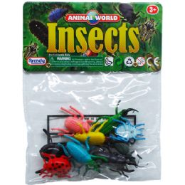 144 Units of 10 Piece Plastic Insects - Animals & Reptiles