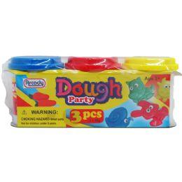 48 Units of 3 Piece Dough Play Set - Clay & Play Dough