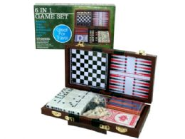 6 Units of 6 In 1 Game Set - Dominoes & Chess