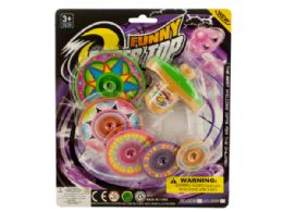 72 Bulk Super Spinning Top Toy With Extra Colorful Discs