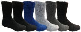6 of Yacht & Smith Men's Warm Cozy Fuzzy Socks, Size 10-13