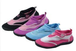 36 Units of Women's Assorted Color Aqua Socks / Water Shoes - Women's Aqua Socks