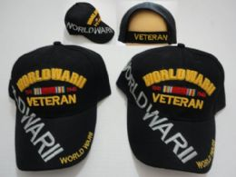 24 Wholesale World War Ii Veteran Hat Large Letters