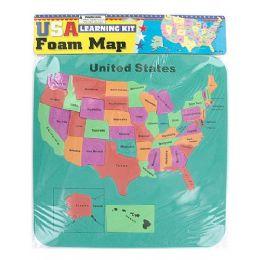 72 Units of Usa Foam Map Set - Puzzles