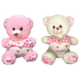 """12 Wholesale 16"""" Bear With/heart"""