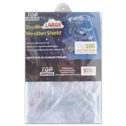 24 Units of Large Clear Pvc Baby Stroller Cover - Baby Accessories