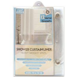 48 Bulk Shower Curtain Clear