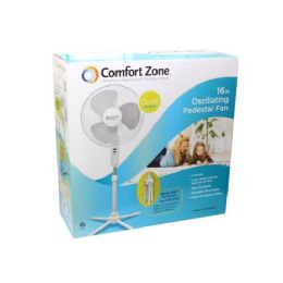 """4 of 16"""" White Floor Stand Fan"""
