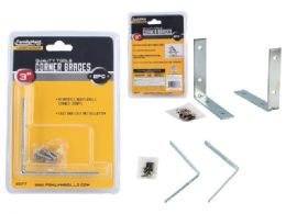 96 Units of 2 Piece Corner Braces With Screws - Hardware Miscellaneous