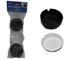 96 Units of 3 Piece Plastic Ashtrays - Ashtrays