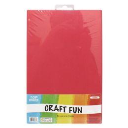 96 Bulk Eva Craft Fun Sheets In Red