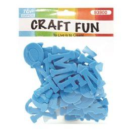 96 Bulk Craft Fun Baby Blue Letters