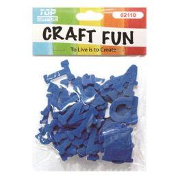 96 Bulk Craft Fun Blue Letters