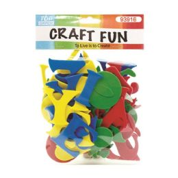 96 Bulk Craft Fun Mixed Colors Letters