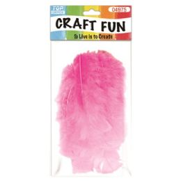 96 Units of Feather BabY-Pink - Pom Poms and Feathers