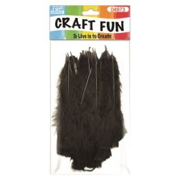 96 Units of Feather Black - Pom Poms and Feathers