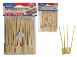 96 Units of 50 Piece Paddle Skewer Picks - BBQ supplies