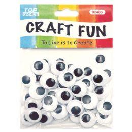 144 Bulk Wiggle Craft Eye Fifty Count