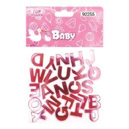 144 Units of Twenty Six Count Alphabet Baby Pink - Baby Shower