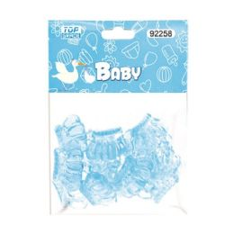 144 Units of Twelve Count Crown Baby Blue - Baby Shower