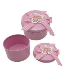 144 Wholesale Jewelry Box Baby Pink