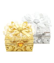 144 Wholesale Jewelry Box Silver And Gold
