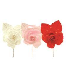 144 Units of Two Piece Satin Flower - Wedding & Anniversary