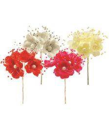 144 Units of Satin Flower - Wedding & Anniversary