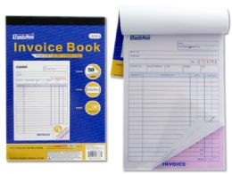 96 Units of 2 Part Invoice Book, 50 Sets - Sales Order Book