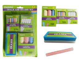 48 Wholesale 28 Piece Chalk And Eraser Set