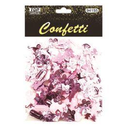 144 Wholesale Confetti Bottle Carriage Pink
