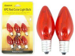 96 Bulk 6pc Red Light Bulbs