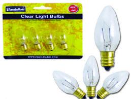 72 Bulk 4pc 7 Watt Clear Light Bulbs