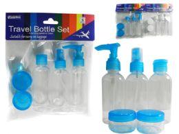 96 Units of 5pc Travel Bottle Set - Spray Bottles