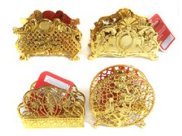 144 Units of Gold Colored Napkin Holder - Napkin and Paper Towel Holders