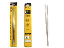 96 Bulk Long Metal Tweezers