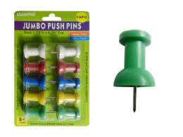 96 Wholesale 10pc Jumbo Push Pins