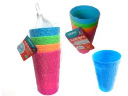 96 Units of 4 Piece Tumbler Cups - Drinking Water Bottle