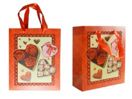 144 Units of Small Heart Gift Bag - Gift Bags