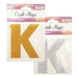 144 Units of Crystal Sticker K - Craft Beads