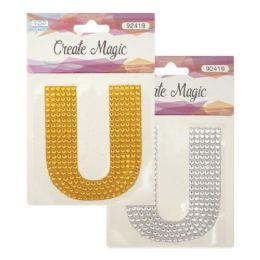 144 Units of Crystal Sticker U - Craft Beads
