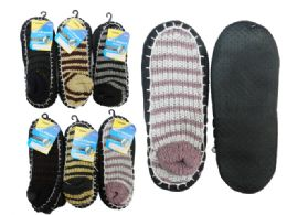 144 Units of House Slippers With AntI-Skid Dots - Womens Slipper Sock