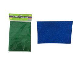 96 Bulk 5 Piece Craft Glitter Foam Sheets