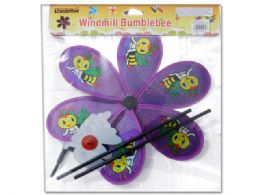 144 Units of Bumblebee Pinwheel - Wind Spinners