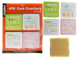 48 Units of 4 Pc Cork Coasters - Coasters & Trivets